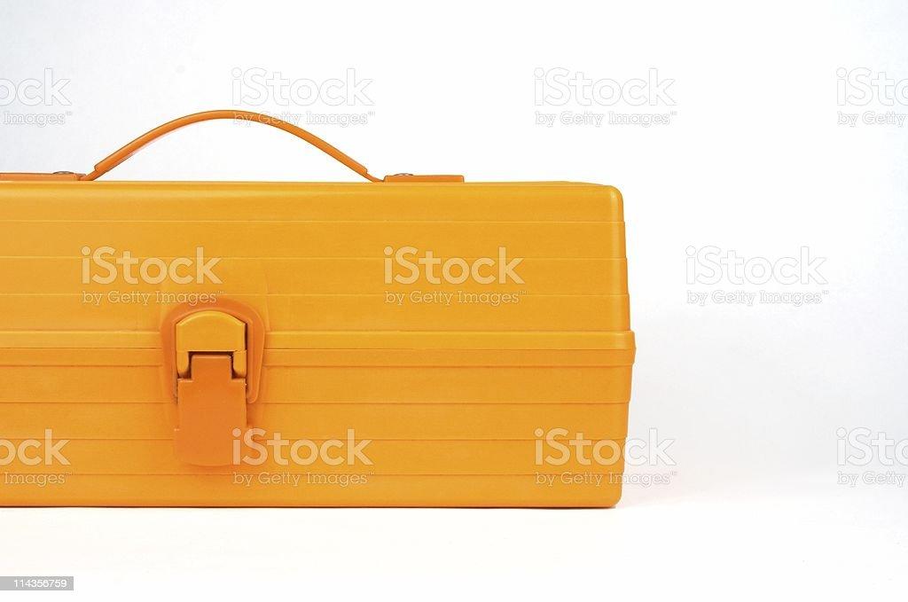 Orange Plastiic Toolbox stock photo