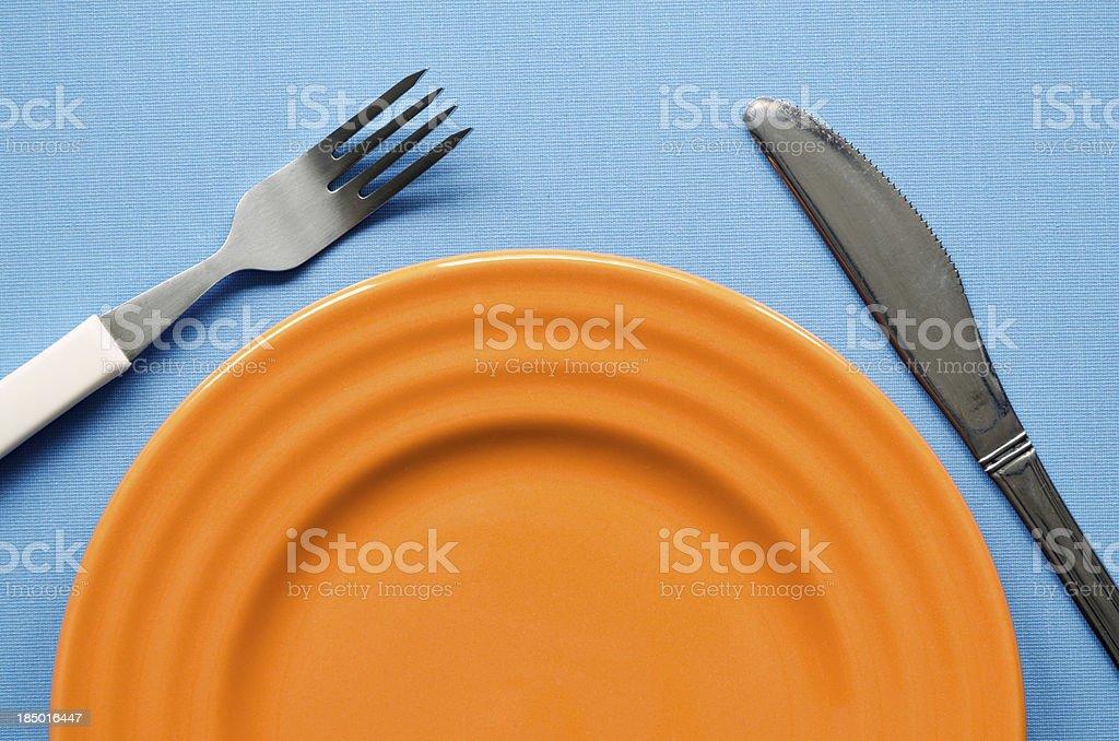orange plate fragment royalty-free stock photo