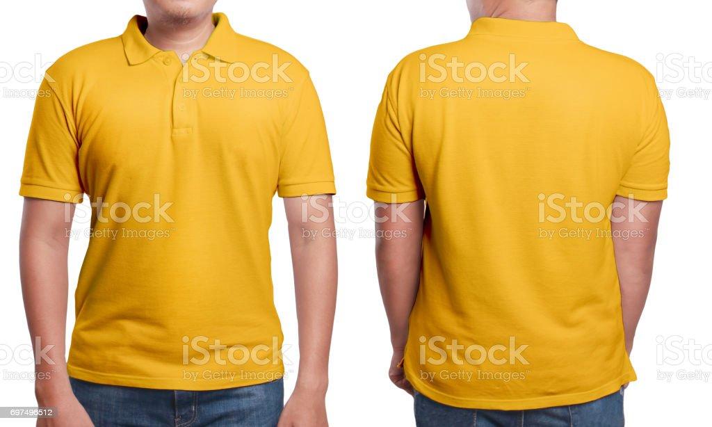 Orange Polo Shirt Design Template stock photo