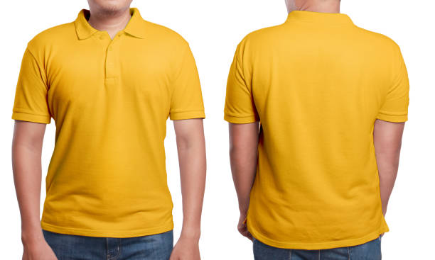 orange polo shirt design template - sports uniform stock photos and pictures