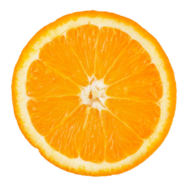 Orange Portion with Clipping Path stock photo