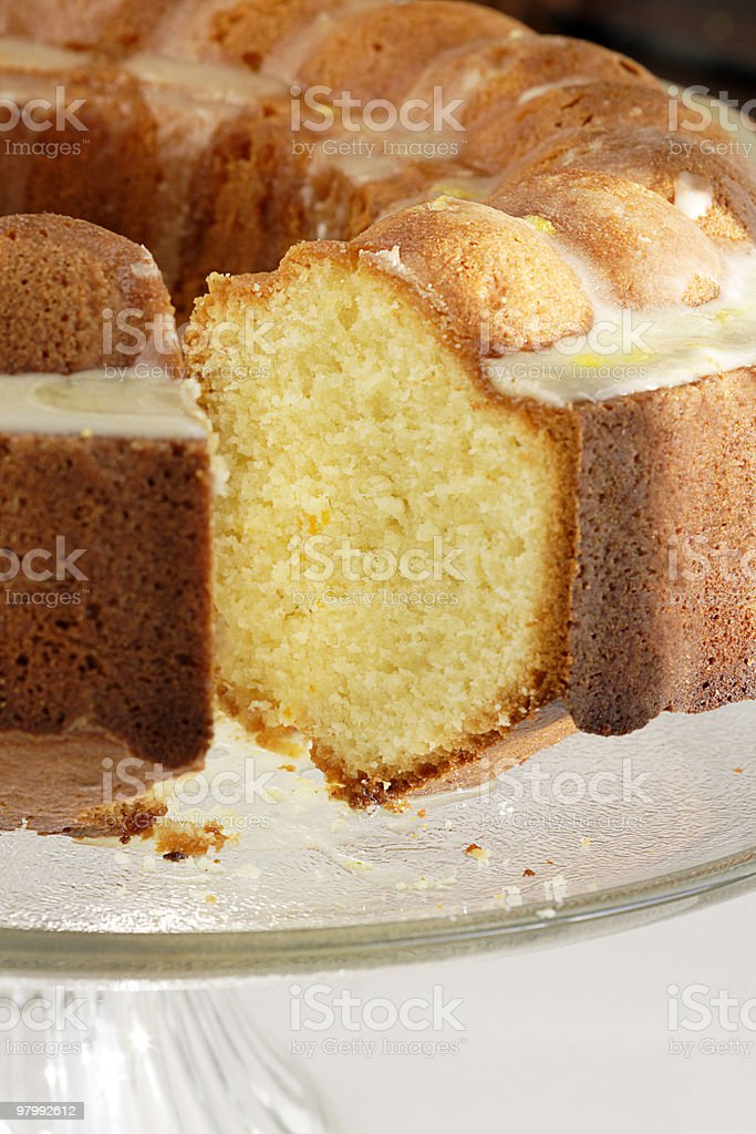 Orange pound cake royalty free stockfoto