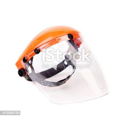 Orange protective mask isolated on the white background.