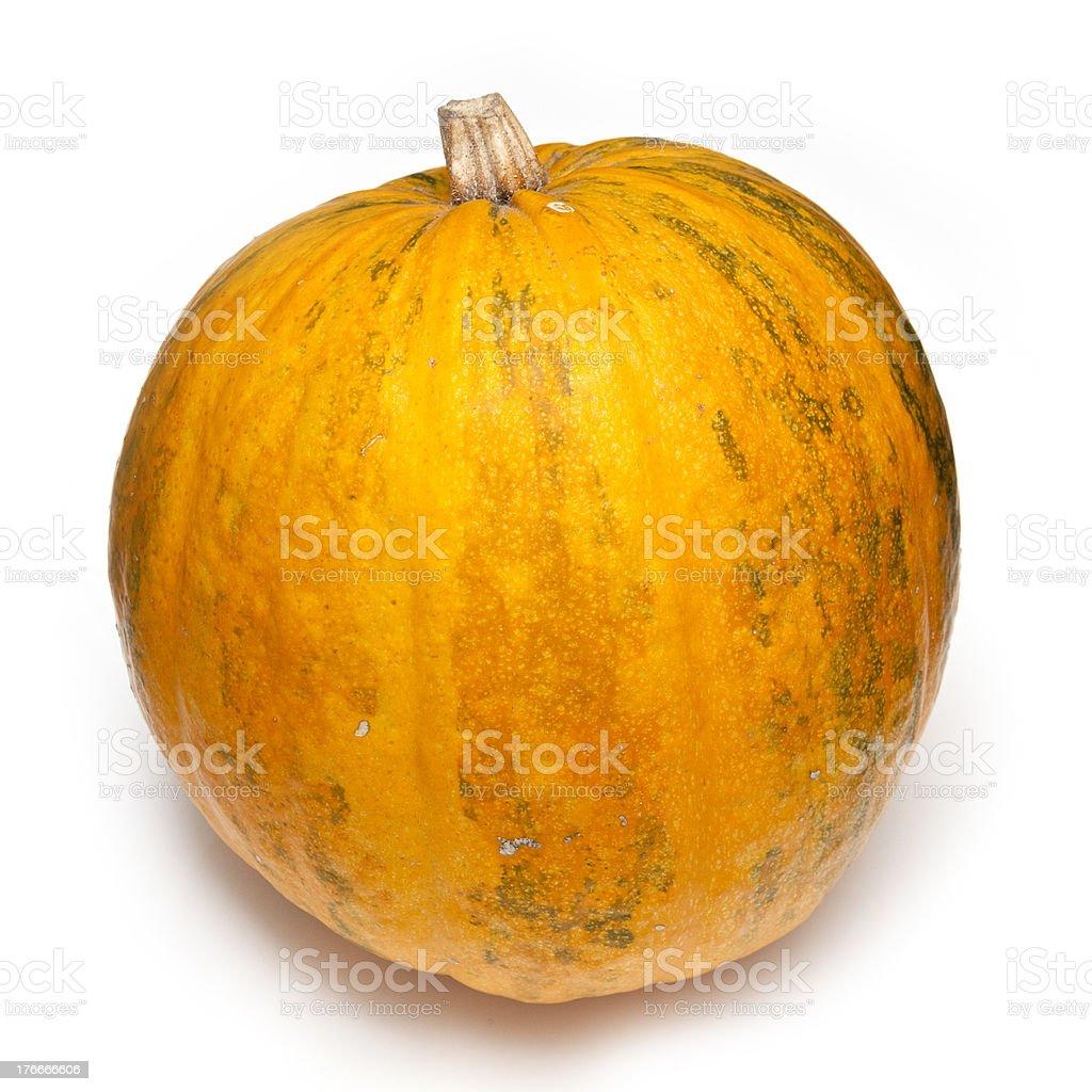 Naranja calabaza aislado sobre un fondo blanco. foto de stock libre de derechos