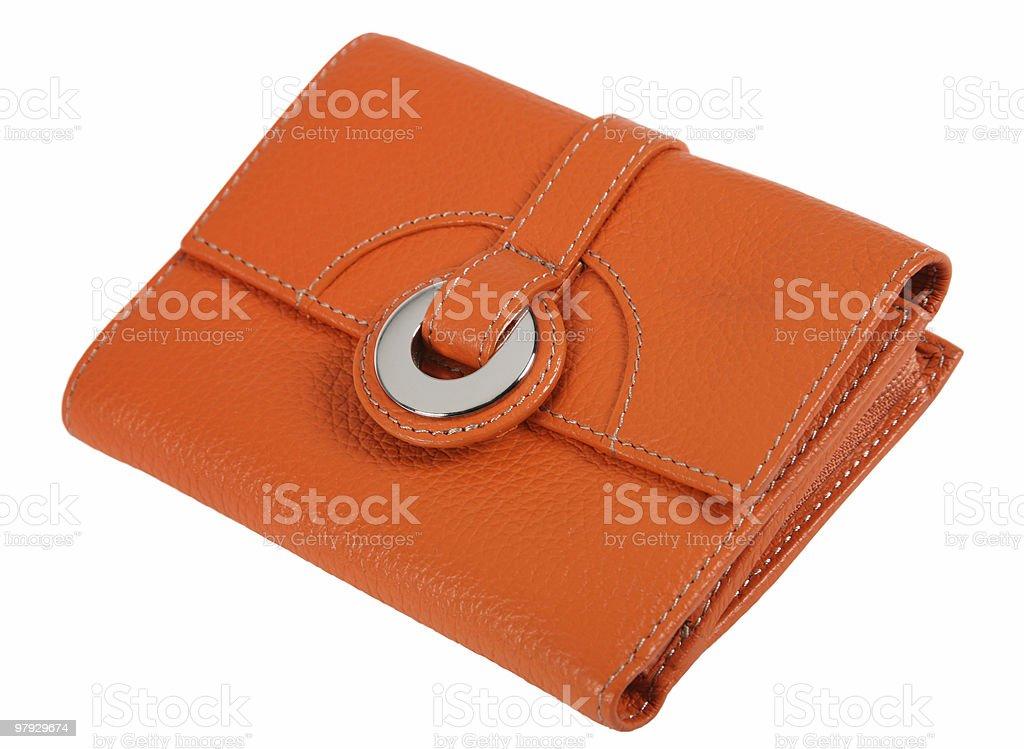 Orange purse royalty-free stock photo