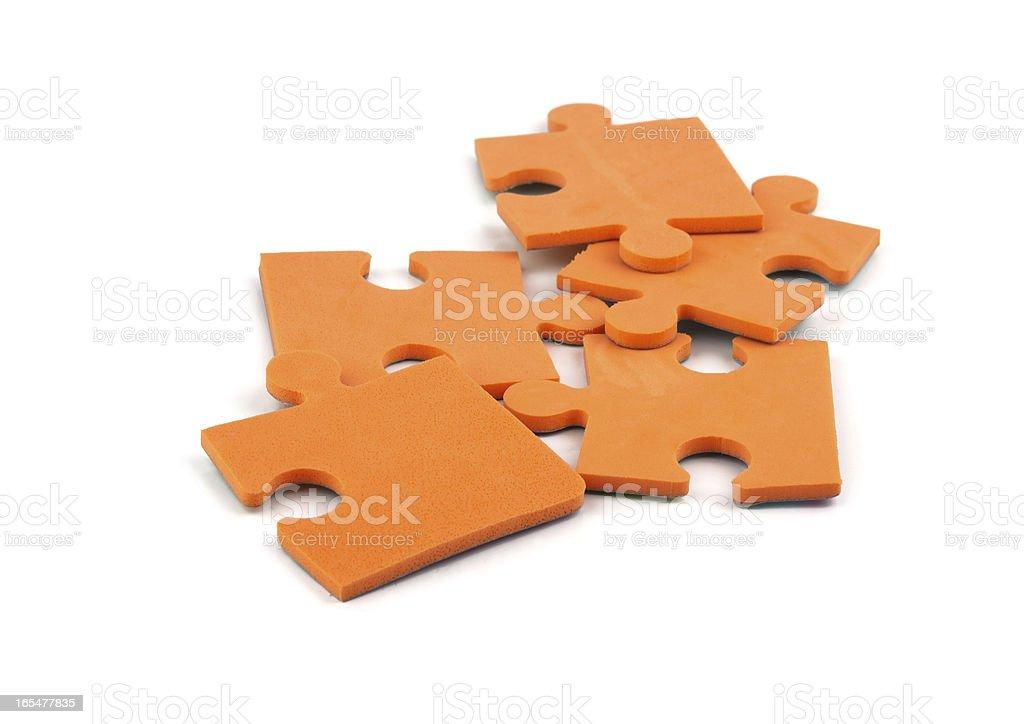 orange puzzle royalty-free stock photo