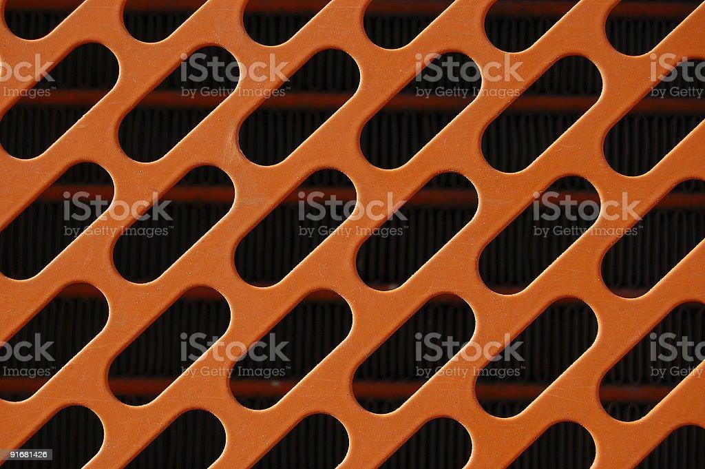 orange radiator grille royalty-free stock photo