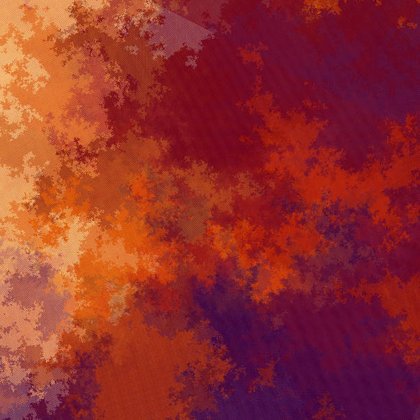 Surprising autumn coloured fractured fractal pattern stock photo