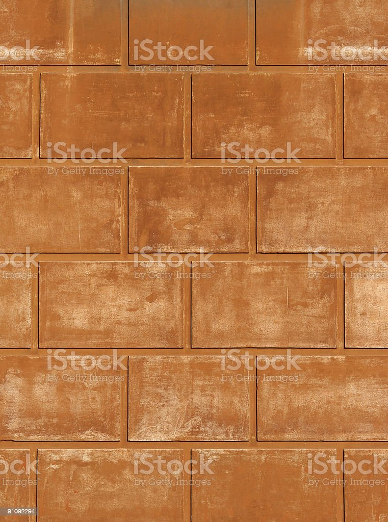 Orange red Roman wall texture with pattern royalty-free stock photo