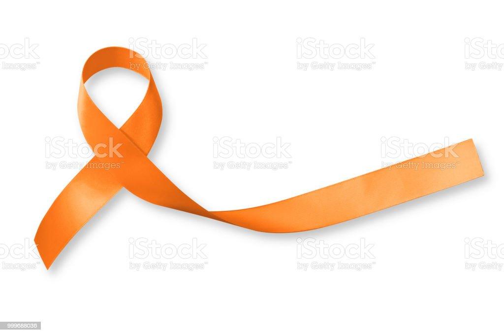 Orange Ribbon For Leukemia Kidney Cancer Multiple Sclerosis Rsd