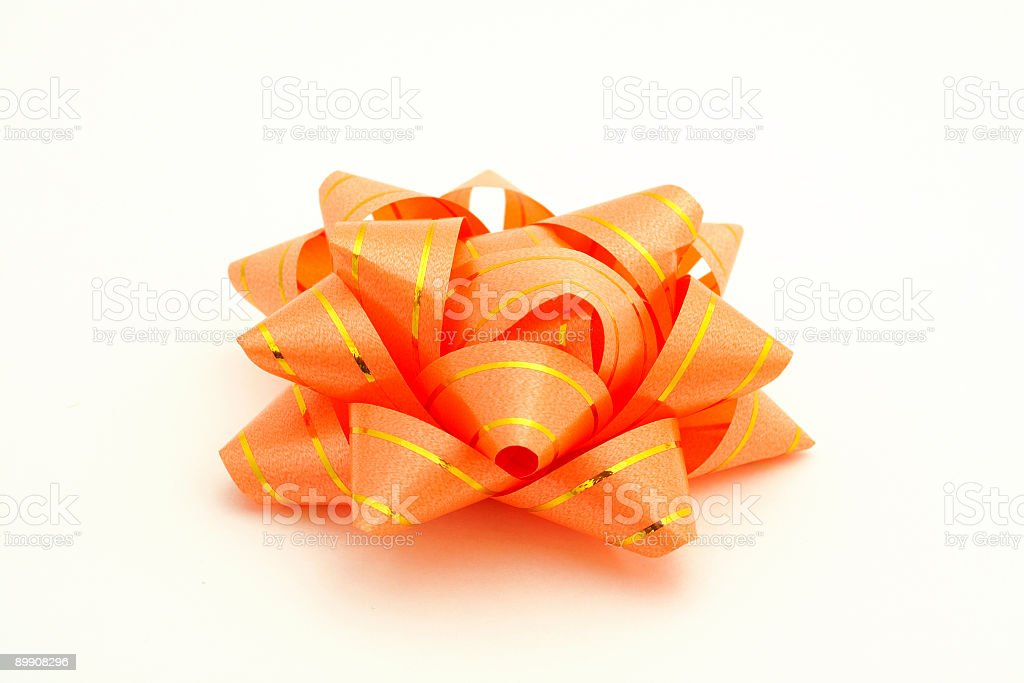 Orange ribbon royalty-free stock photo
