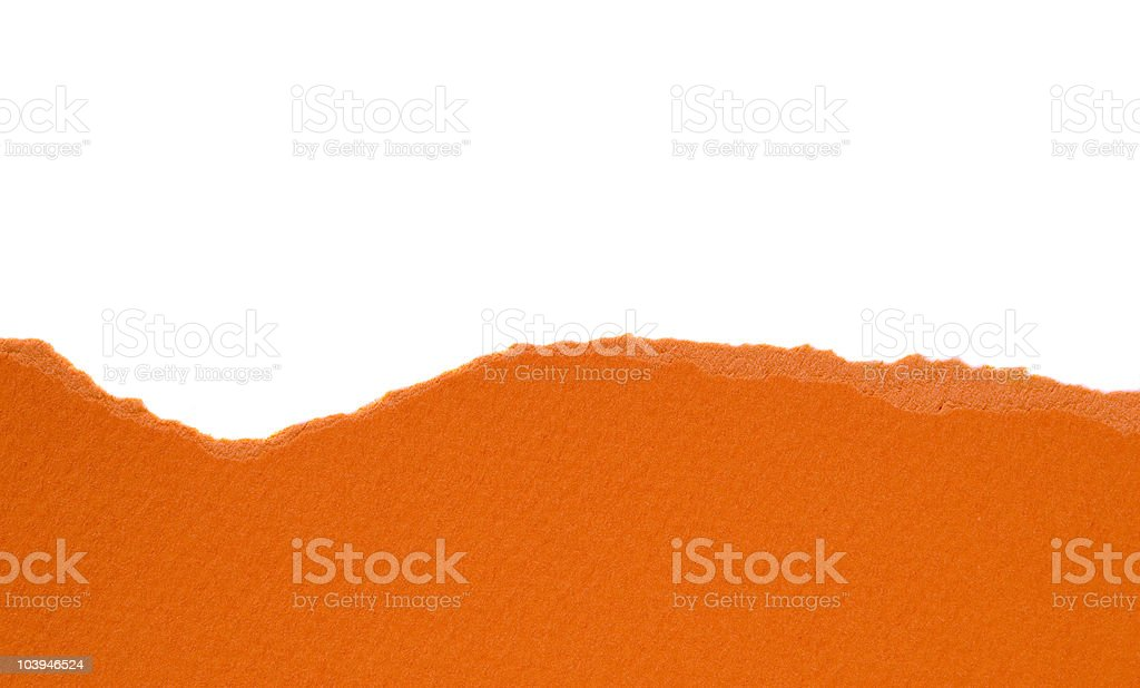 Orange ripped paper stock photo