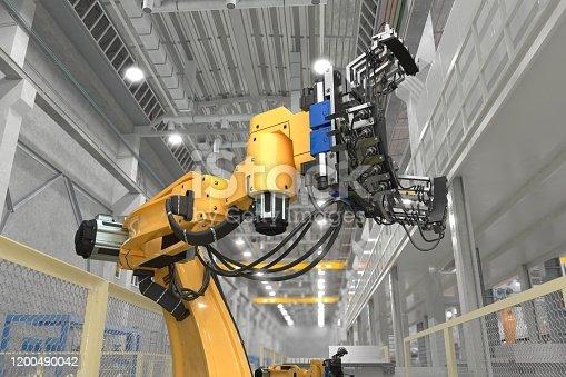 3d illustration of industrial robot