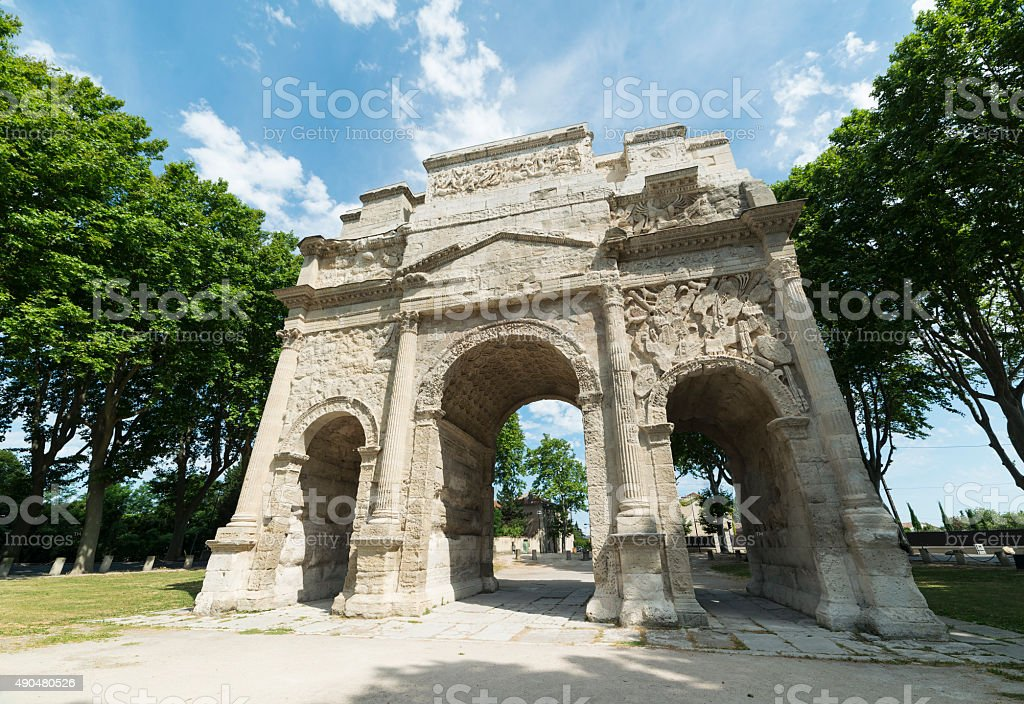 Orange, Roman Arch stock photo