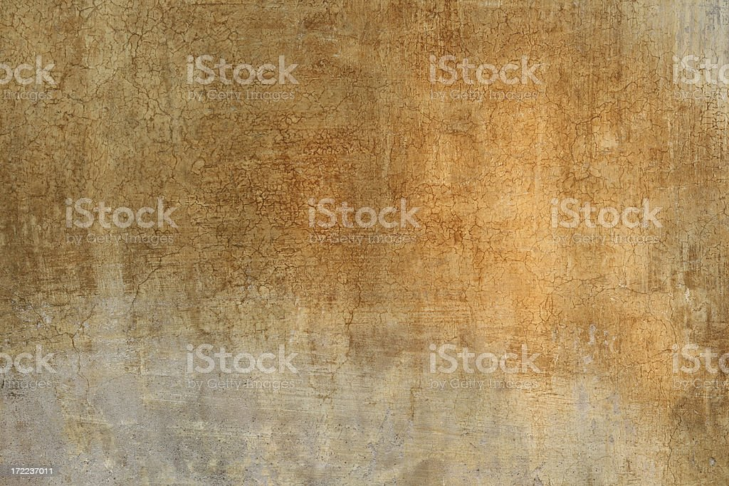 Orange Roman wall with mysterious light, Rome Italy royalty-free stock photo