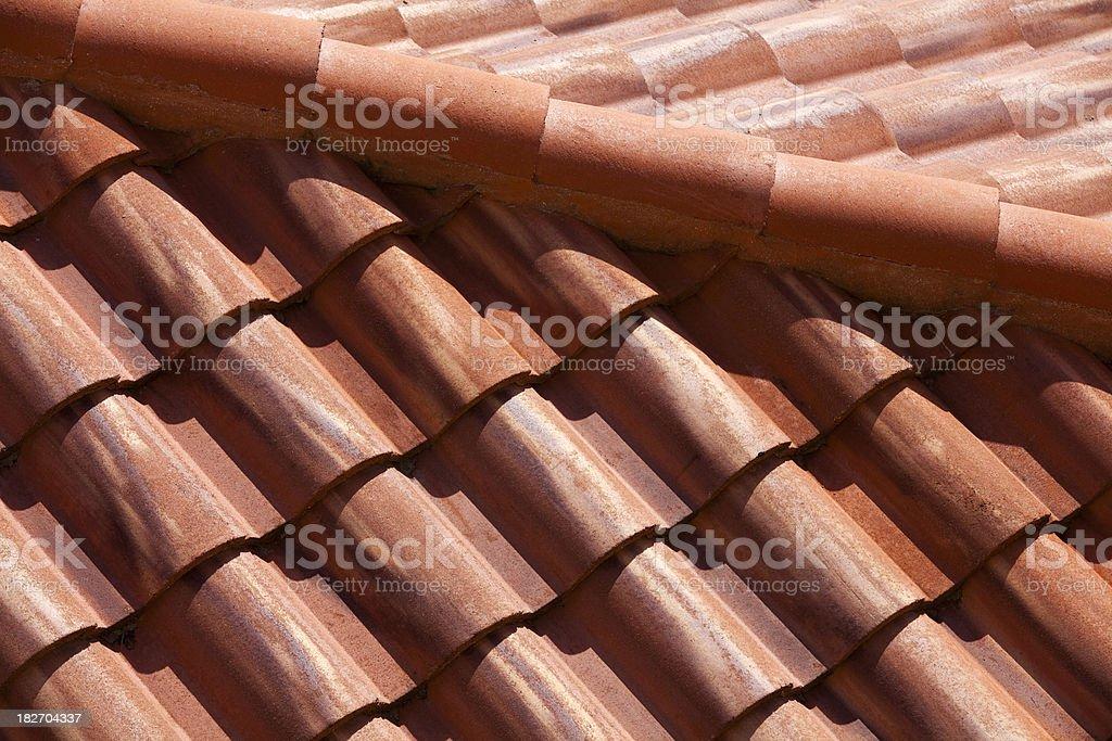 Orange Roof Tiles royalty-free stock photo