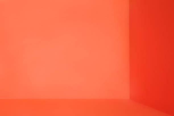 オレンジの部屋コーナー ストックフォト