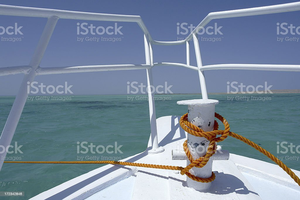Orange Rope royalty-free stock photo