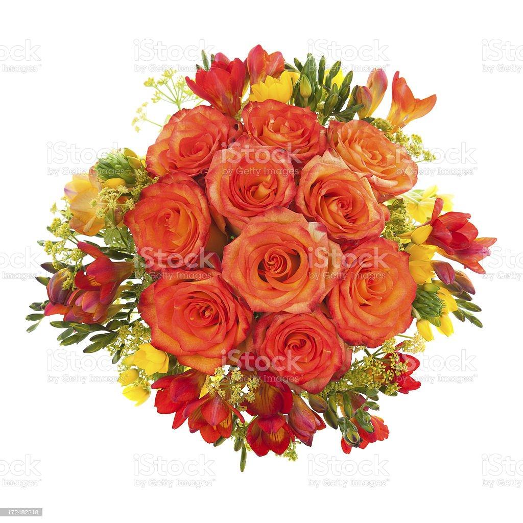 Orange Roses bouquet royalty-free stock photo