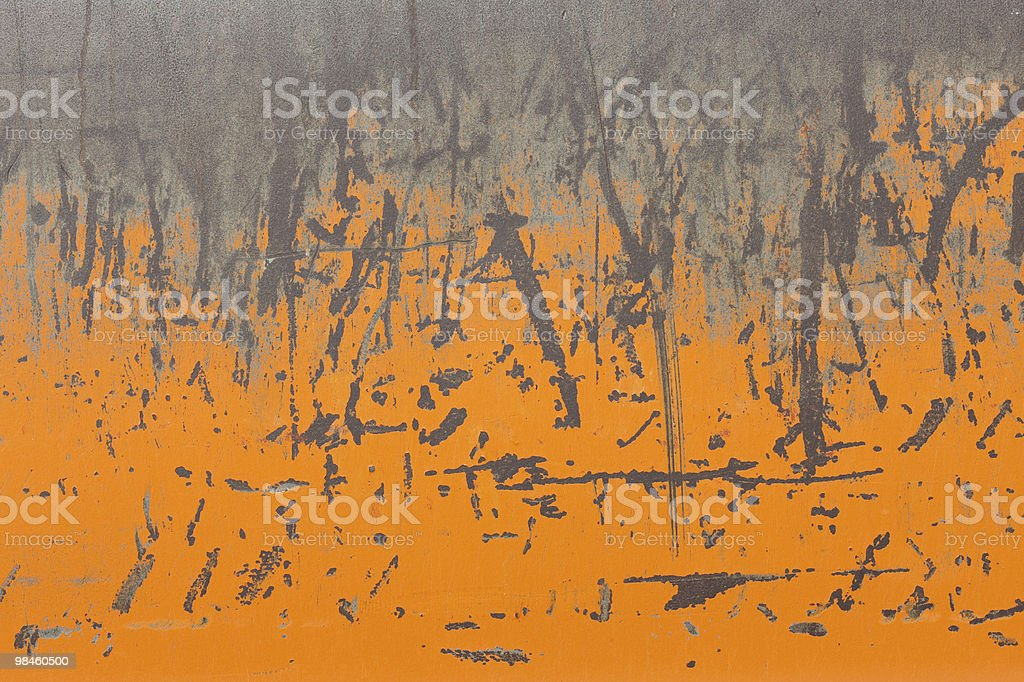 Orange Rusty Metallic Surface royalty-free stock photo