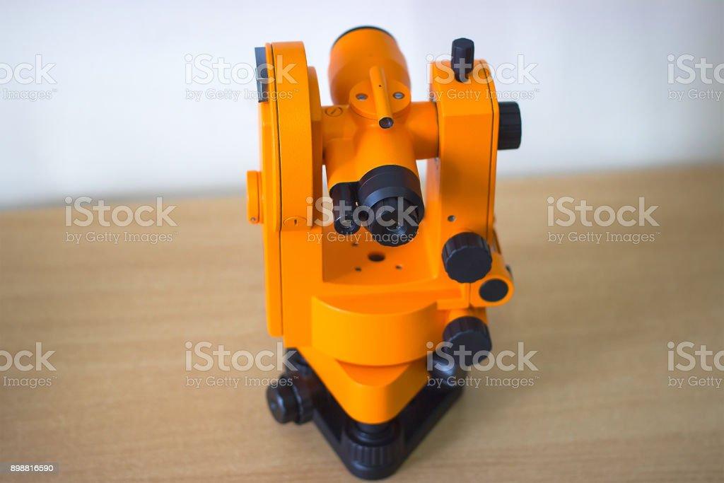 dispositivo científico laranja - foto de acervo