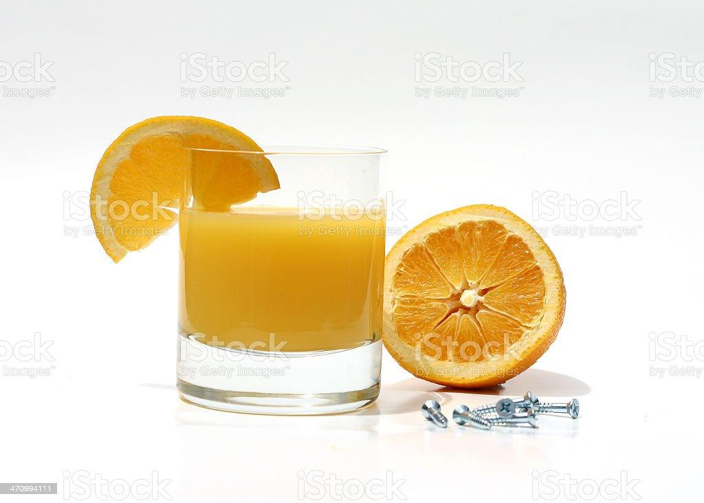 Orange Screwdriver royalty-free stock photo