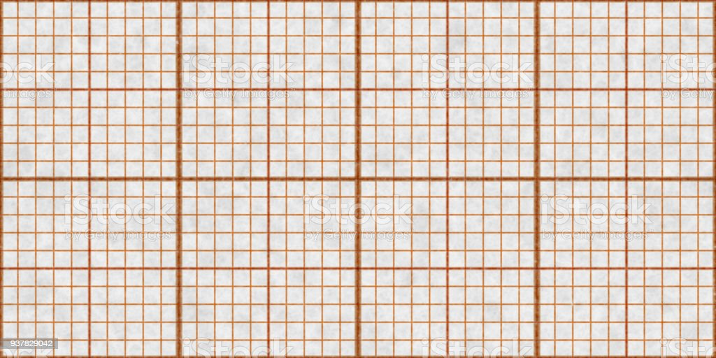 Orange Seamless Millimeter Paper Background. Tiling Graph Grid Texture. Empty Lined Pattern. – zdjęcie