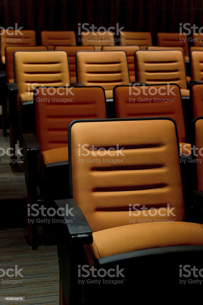 Orange Seat royalty-free stock photo