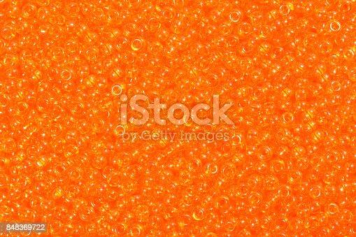 istock Orange seed beads 848369722