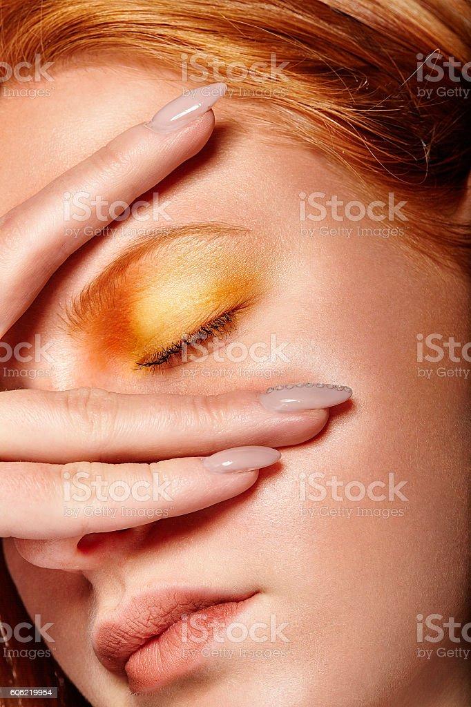 Orange shades stock photo