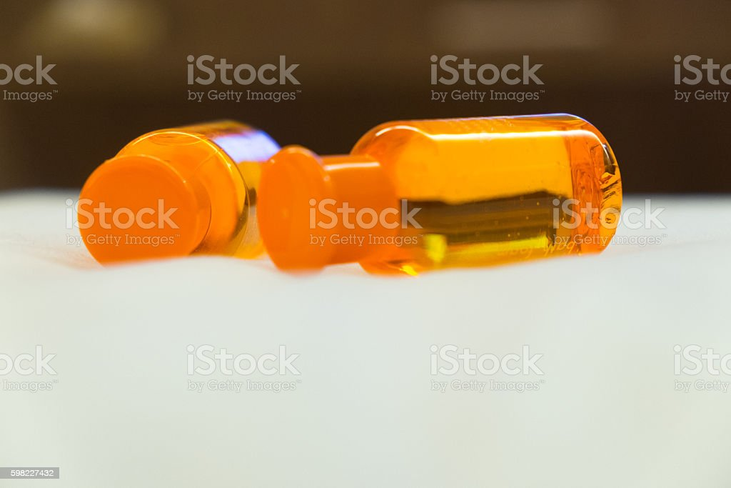 Orange shampoo and shower gel foto royalty-free