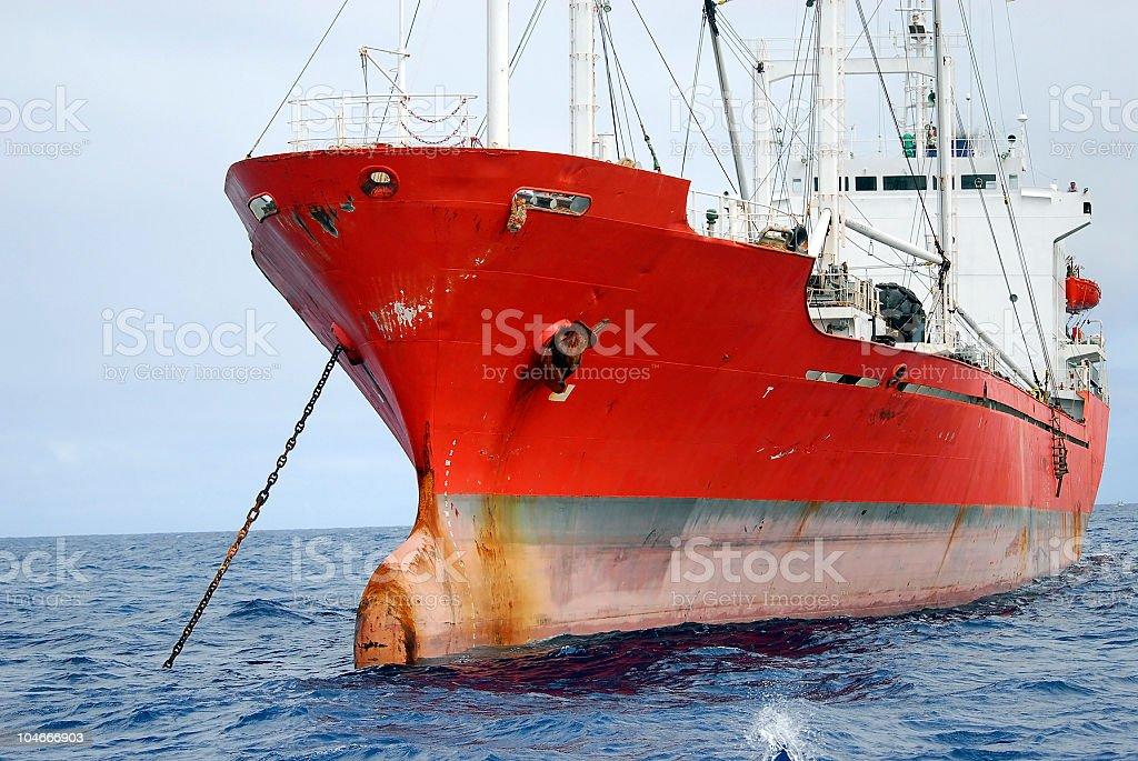 Orange ship royalty-free stock photo