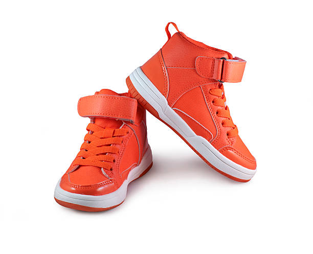 Orange shoes stock photo