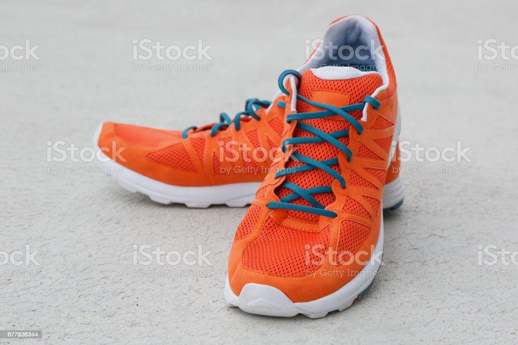 Orange shoes royalty-free stock photo