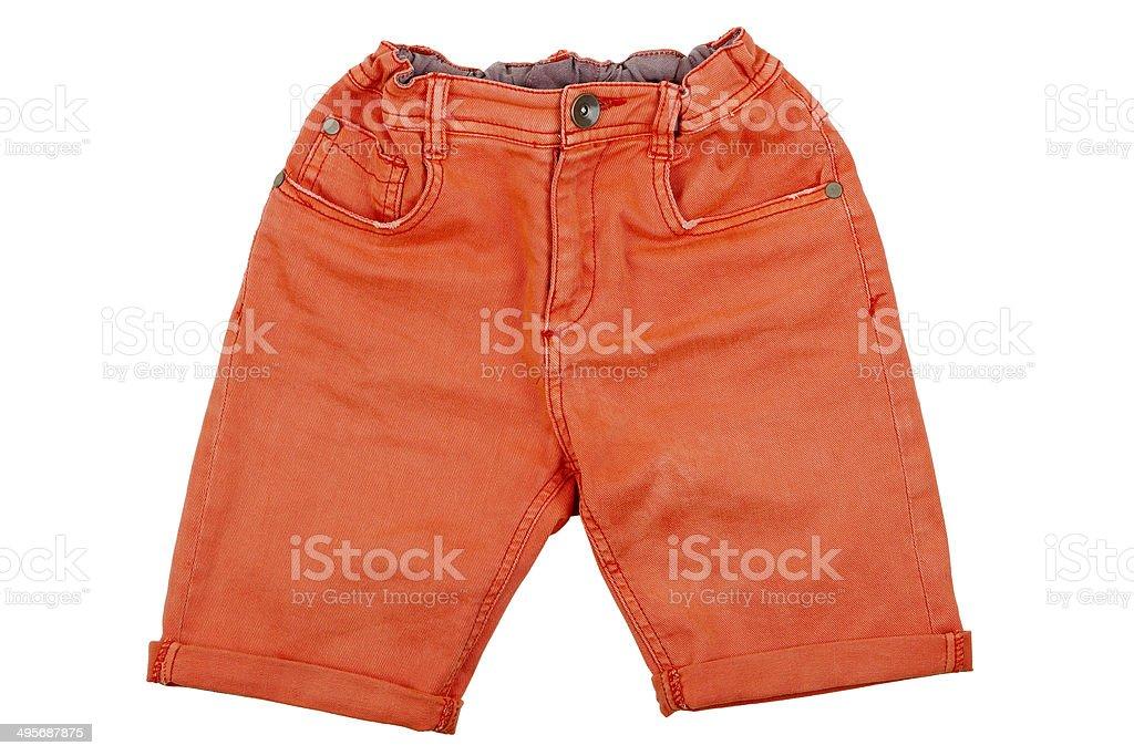 orange shorts stock photo