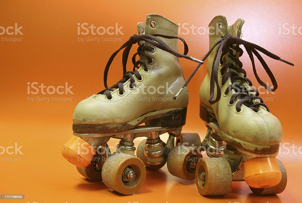 orange skates royalty-free stock photo