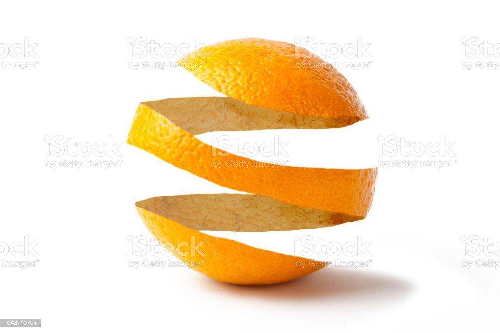 Orange Skin stock photo