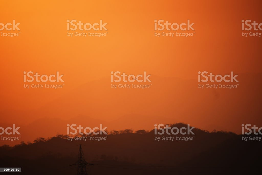 Orange Sky stock photo