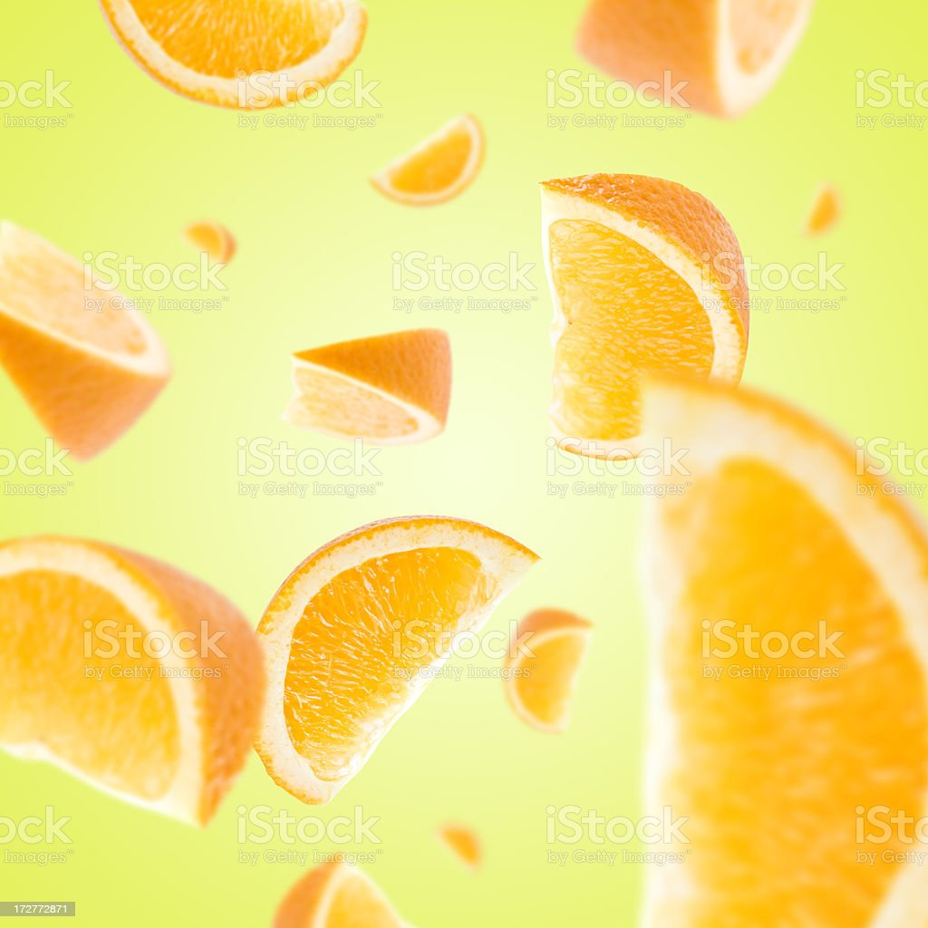 Orange Slice Explosion royalty-free stock photo