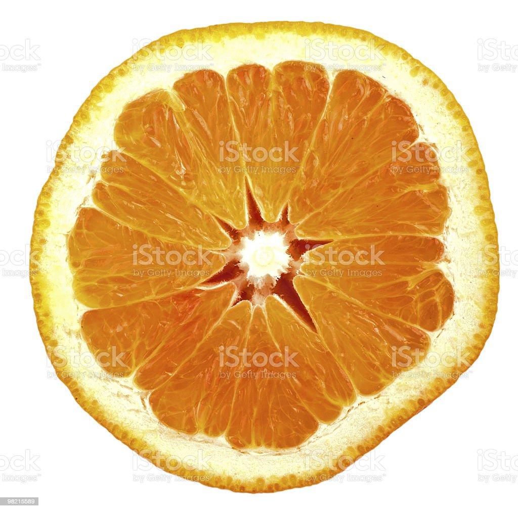 Orange slice isolated on white royalty-free stock photo