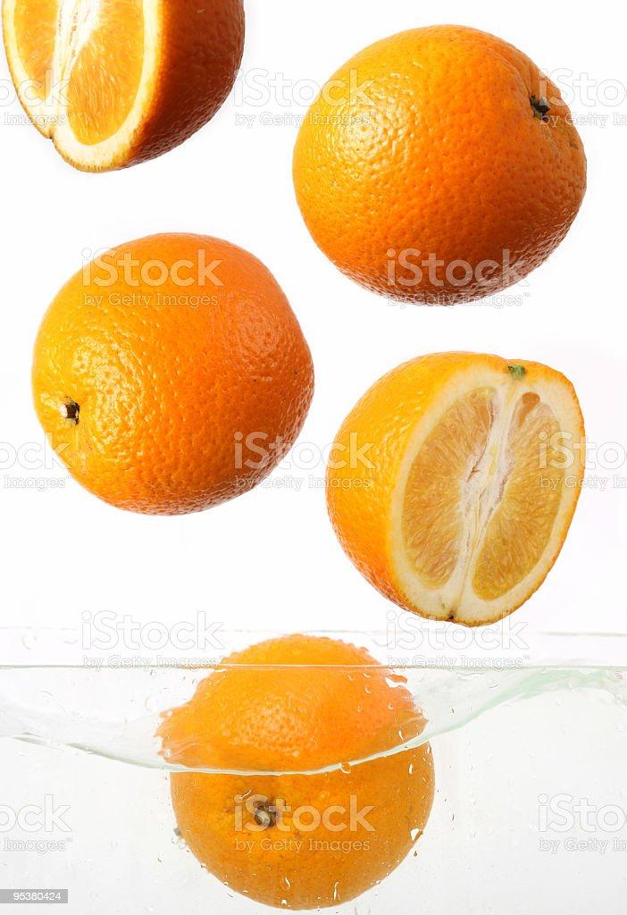 orange slice on a white background royalty-free stock photo