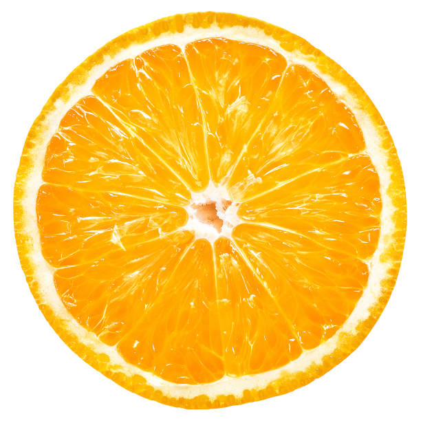 Orange slice Orange fruit, slice, isolated, white background orange fruit stock pictures, royalty-free photos & images