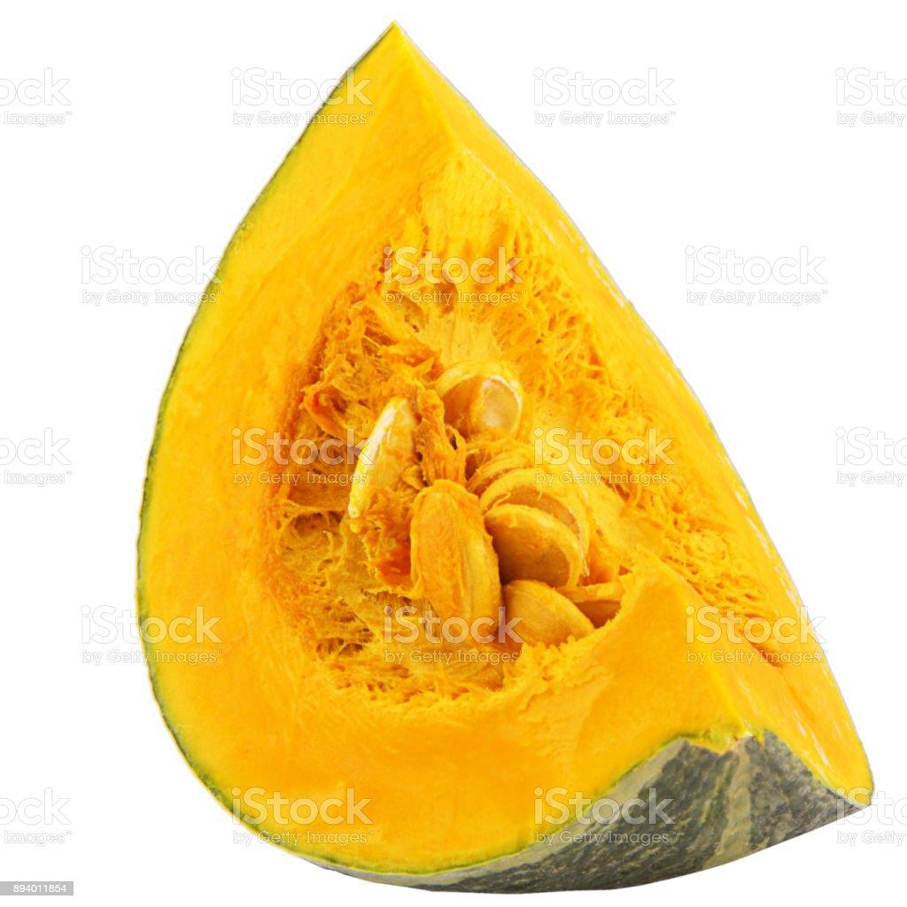 Orange Slice pumpkin isolated on white background - foto stock