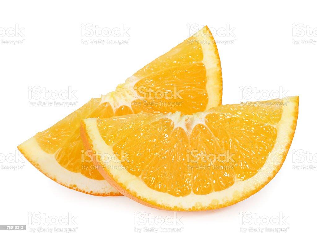 orange slices isolated on white stock photo