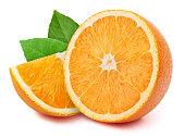 オレンジスライス白に隔てられた