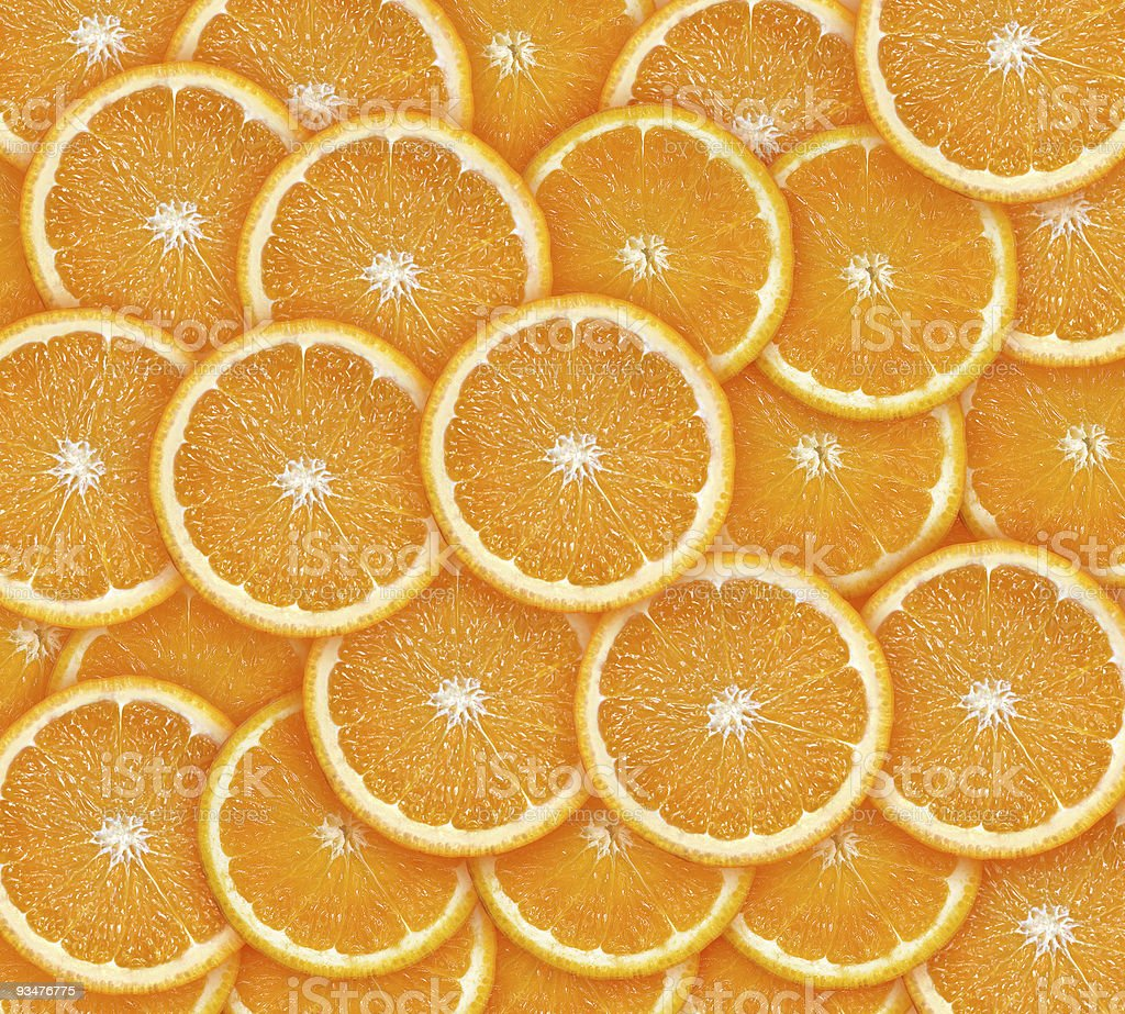 Orange slices stock photo