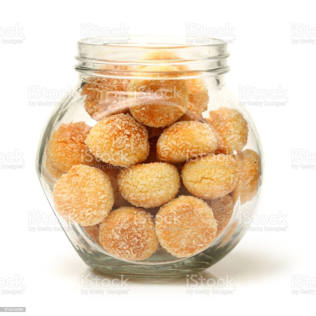 Orange Snowball Cookies On The White Background Stock Photo