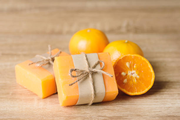 Orange soap stock photo