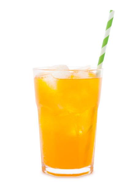 Orange Soda Drink stock photo