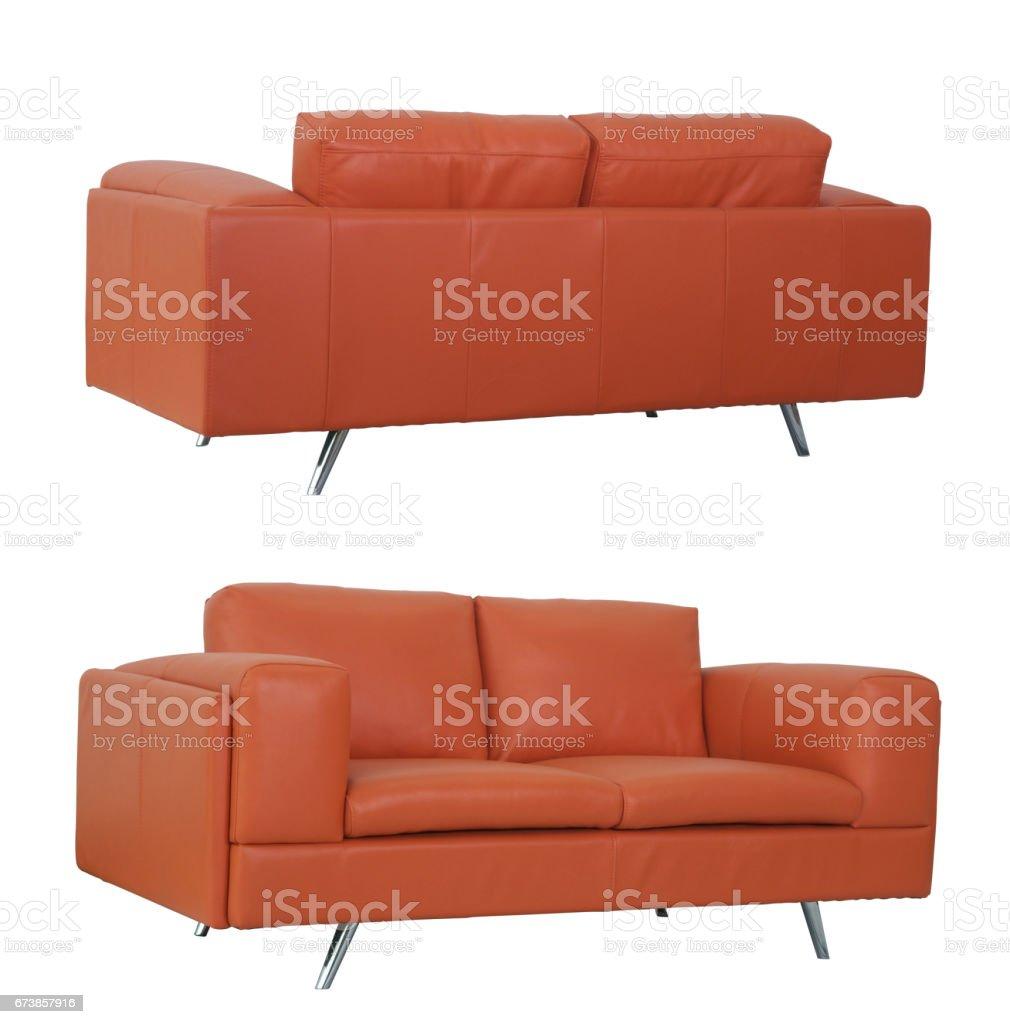 Orange Sofa front and back photo libre de droits